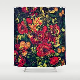 Vivid Jungle Shower Curtain
