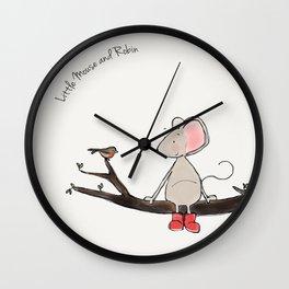 Little Mouse - Robin Wall Clock