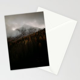 Golden Autumn Mountain Stationery Cards