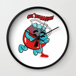 Koolaid Snorting Man Wall Clock