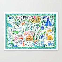 A map of Chiapas Canvas Print