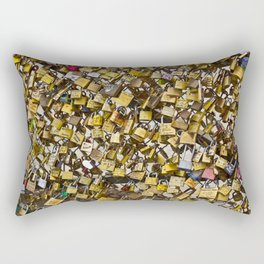 Love Locks in Paris Rectangular Pillow