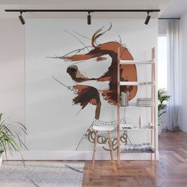 Messy Hair Don't Care Dog Wall Mural