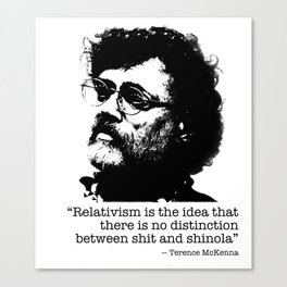 Terence Mckenna quote Canvas Print