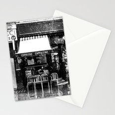 Snow falling in the West End Stationery Cards
