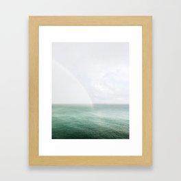 Rainbow in the Sea Framed Art Print