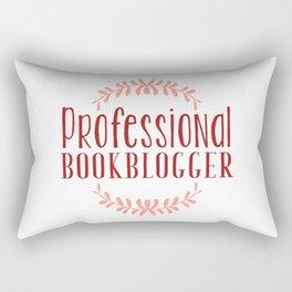 Professional Bookblogger - White w Red Rectangular Pillow