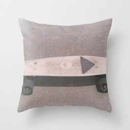 Penny Board Throw Pillow