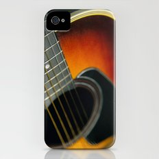 Guitar - Acoustic close up Slim Case iPhone (4, 4s)