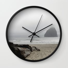 Haystack Rock At Cannon Beach Wall Clock