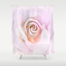 Delicate Pink Rose Abstract Shower Curtain