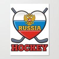 hockey Canvas Prints featuring HOCKEY by frail