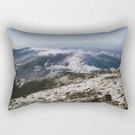 Cannon Mountain from Mt. Lafayette Rectangular Pillow