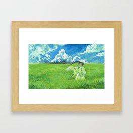 August - Indication of rain - Framed Art Print