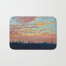 Tom Thomson - Sunset Sky - Canada, Canadian Oil Painting - Group of Seven Bath Mat