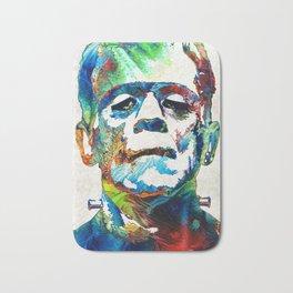 Frankenstein Art - Colorful Monster - By Sharon Cummings Bath Mat