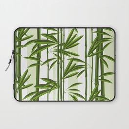 Green bamboo tree shoots pattern Laptop Sleeve