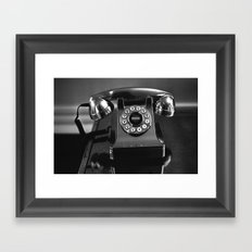 Rotary Phone Framed Art Print