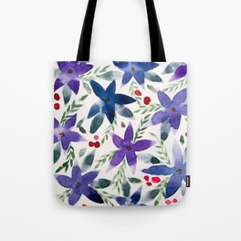 Wintery Florals Tote Bag