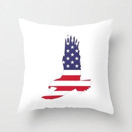 Flag of america eagle Throw Pillow