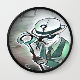 End of the Riddle Wall Clock