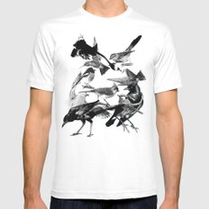 A Volery of Birds MEDIUM White Mens Fitted Tee