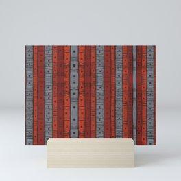 Stripes and dots in earth tones, Mini Art Print