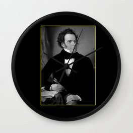 August rieder-Portrait of Schubert Wall Clock