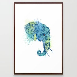Elephant Head II Framed Art Print