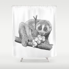 Slow Loris (Kera Duku) Shower Curtain