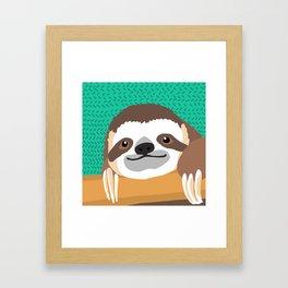 Brad Sloth Framed Art Print