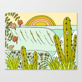 where nature and waves bloom art by surfy birdy Canvas Print