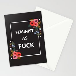 Feminist As Fuck, Quote Stationery Cards