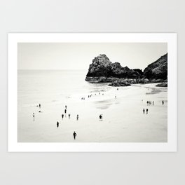 Cornwall beach life Art Print