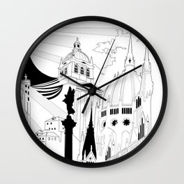 Inspired travels Wall Clock