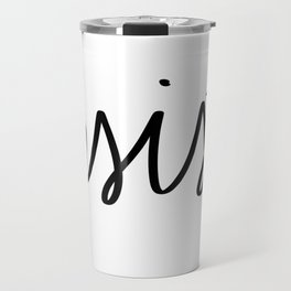 Resist - Word Only Travel Mug