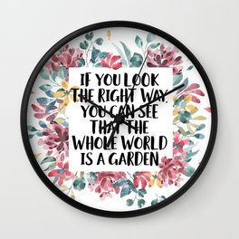 If You Look The Right Way Wall Clock