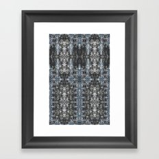 ReggeaLION: L-Blue Fractal Framed Art Print
