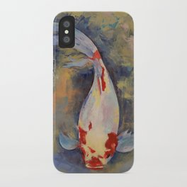 Koi with Japanese Maple Leaf iPhone Case