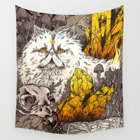 witchcraft Wall Tapestries featuring Witchcraft by Angela Rizza