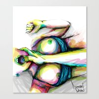Canvas Prints featuring love me by Mattew Draw