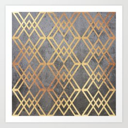Glam Geometric Art Print