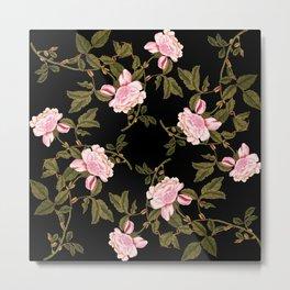 Rose Garden Noir Metal Print