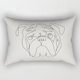 One Line English Bulldog Rectangular Pillow