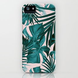 Tropical Jungle Leaves Pattern #3 #tropical #decor #art #society6 iPhone Case