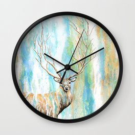 Deer Tree Wall Clock