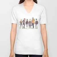teen titans V-neck T-shirts featuring Teen Titans Streetwear by L. Tharp