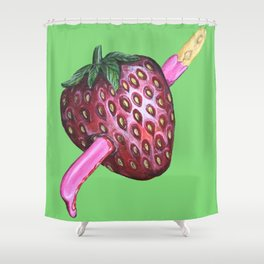 How strawberry pocky get it's flavour. Shower Curtain