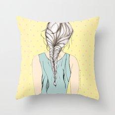 Hair braid Throw Pillow