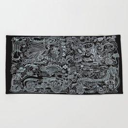 Ancient Figures II Beach Towel